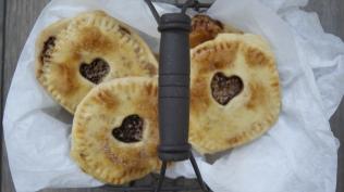 empanadillas de hojaldre y chocolate
